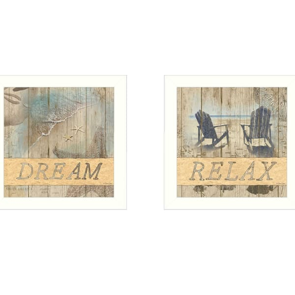 Dream/Relax Collection By Dee Dee Framed Wall Art