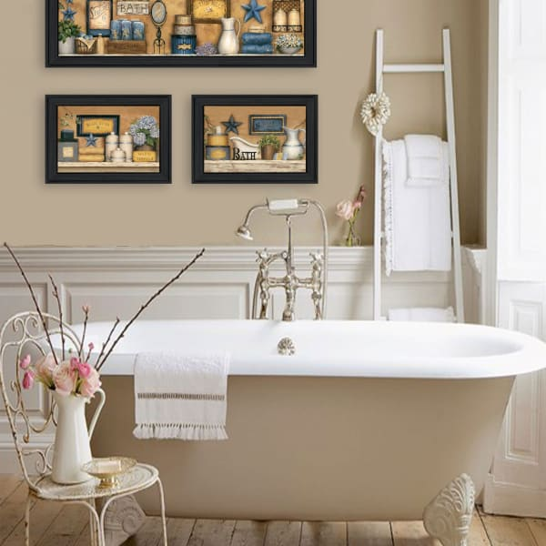 Starlight Bath 3-Piece Collection By Carrie Knoff Framed Wall Art