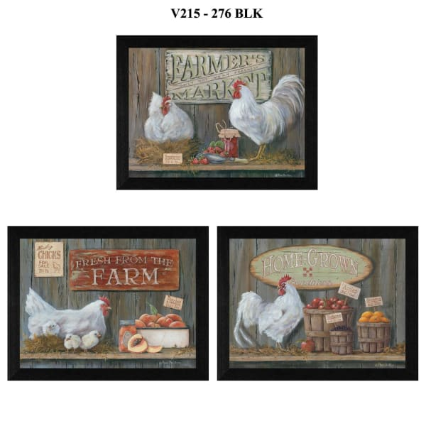 Farmers Market Collection By Pam Britton Framed Wall Art