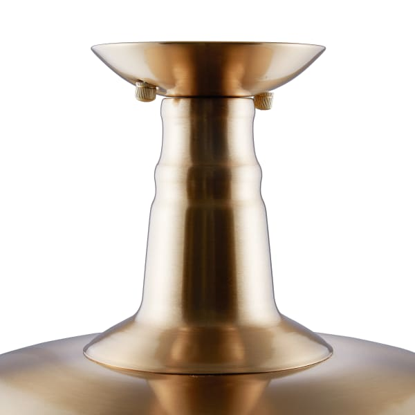 Fabien Antique Brass Flush Mount Pendant Lamp