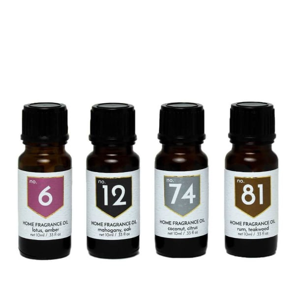 Exotic Scents Home Fragrance Diffuser Oils Set of 4