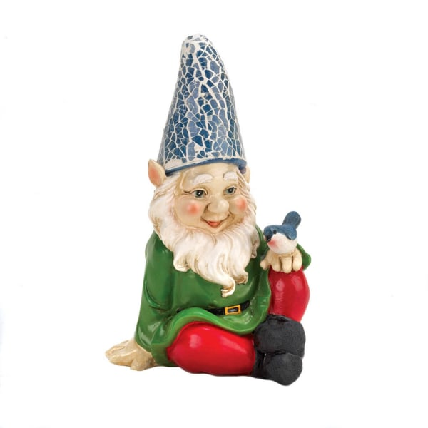 Cheery Gnome Solar Statue