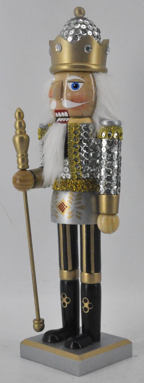 Silver Gold Sequin Soldier Nutcracker Pier 1