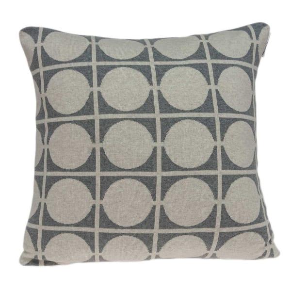 Geometric Design Tan and Grey Printed Pillow Cover
