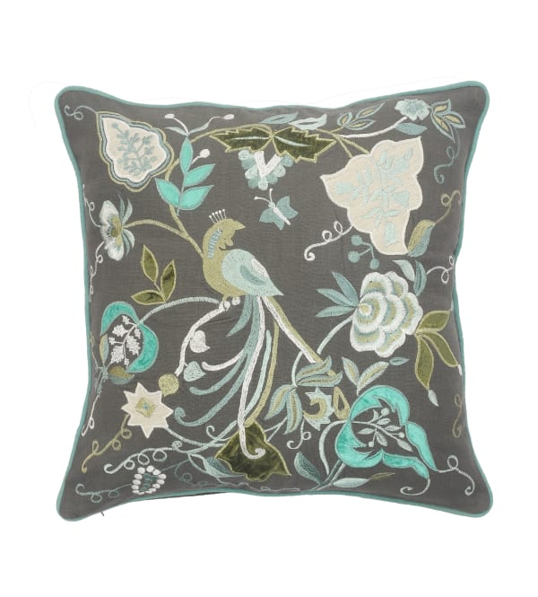 Peacock Garden Multicolored Throw Pillow