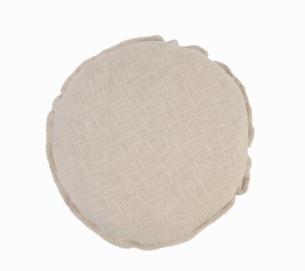 Round Solid Birch Throw Pillow