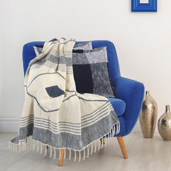 Coastal Geometric Blue & White  50