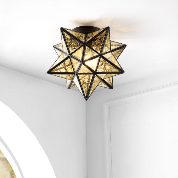 Stella Moravian Star Metal LED Flush Mount Ceiling Light