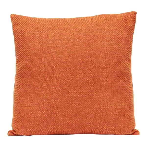 Burnt Orange Tweed Square Pillow