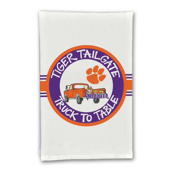 Clemson Tailgate Truck Set of 2 Hand Towels