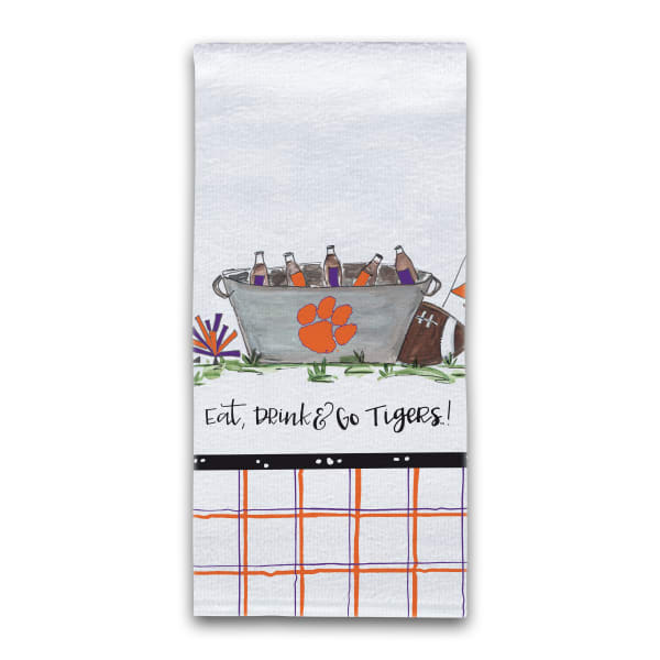 Clemson Football Set of 2 Hand Towels