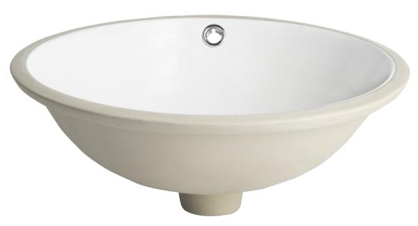 Nerida White Porcelain Ceramic Undermount Bathroom Sink