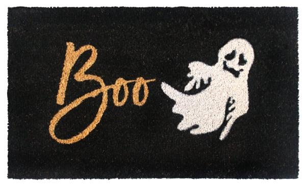 White Machine Tufted Boo Doormat, 1'5'' x 2'5''