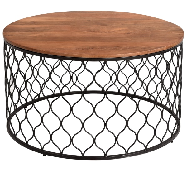Bryony Mango Wood and Iron Coffee Table