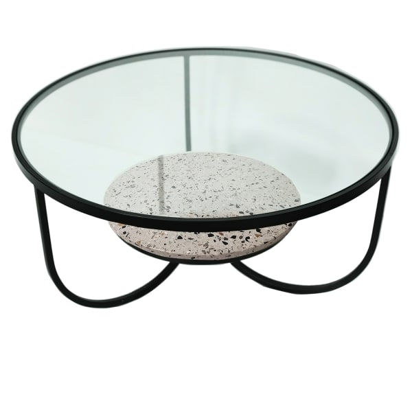 Ember Round Metal Coffee Table