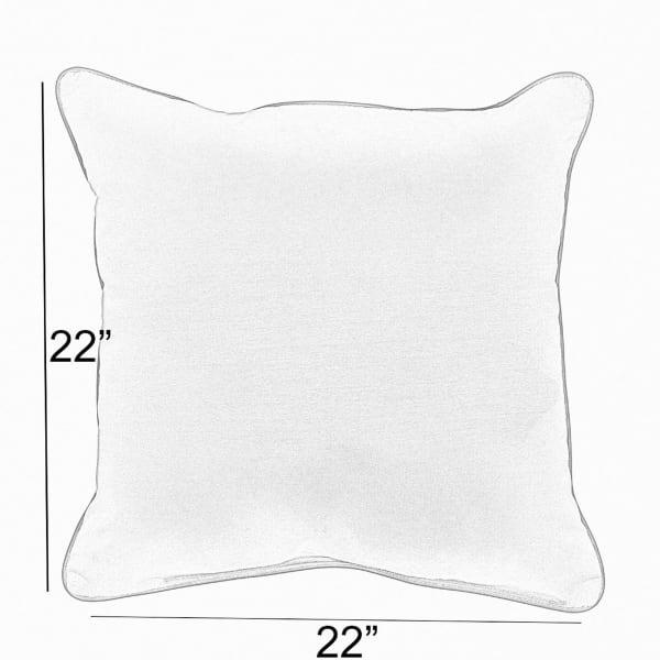 Ivory/Indigo Set of 2 Outdoor Pillows