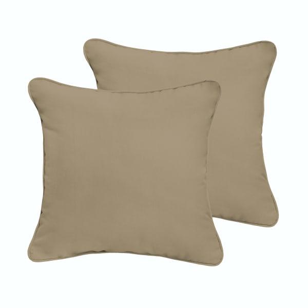 Beige Set of 2 Outdoor Pillows