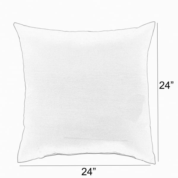Sunbrella Canvas Natural/Canvas Rust Set of 2 Outdoor Pillows