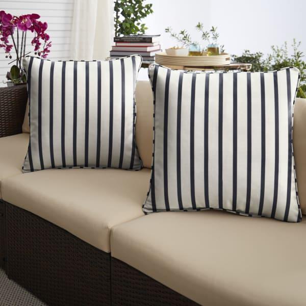Sunbrella Lido Indigo XL Set of 2 Outdoor Pillows