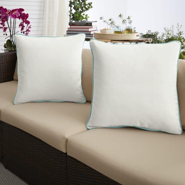 Sunbrella Canvas Natural/Canvas Aruba Set of 2 Outdoor Pillows