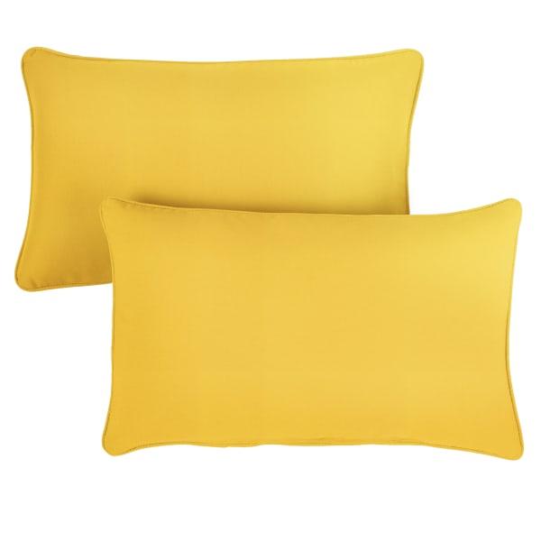 Sunbrella Sunflower Yellow Set of 2 Outdoor Lumbar Pillows