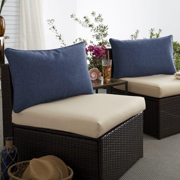Sunbrella Spectrum Indigo Set of 2 Outdoor Lumbar Pillows