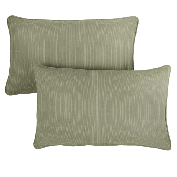 Sunbrella Dupione Laurel Set of 2 Outdoor Lumbar Pillows
