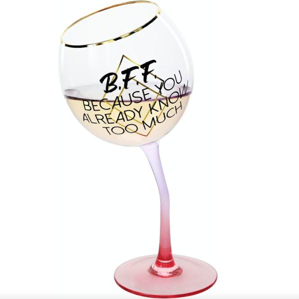B.F.F. - Tipsy Stemmed Wine Glass