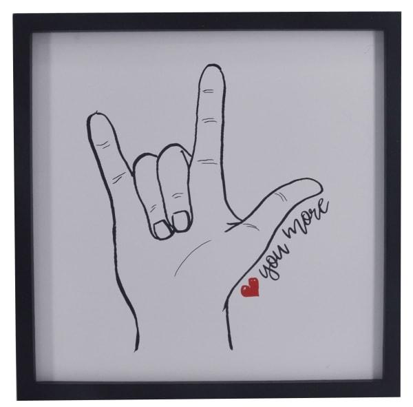 Love You More Finger Sign