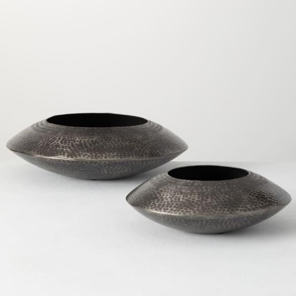 Metal Decorative Set of 2 Bowls