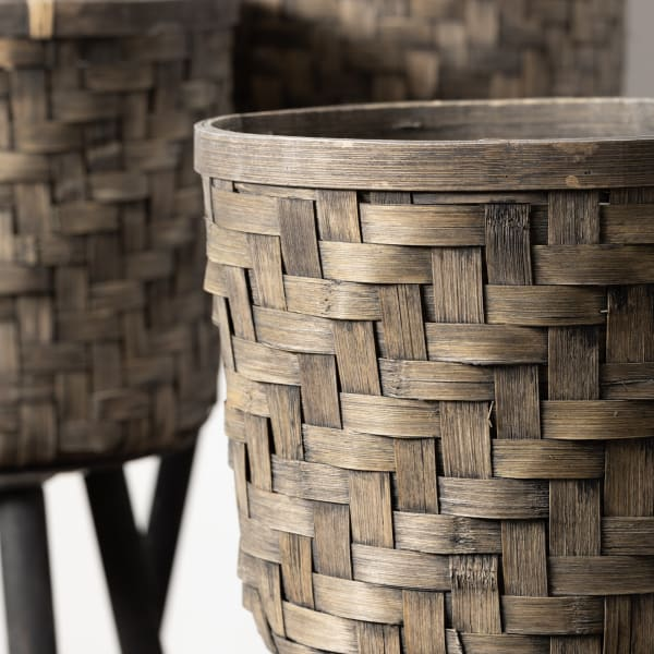 Decorative Basket On Stand Set of 3