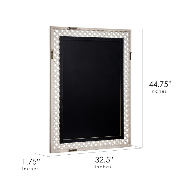 Gray Lattice Wall Mirror