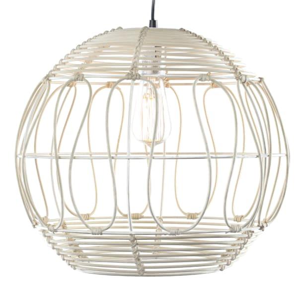 Wicker Globe Style Hanging Pendant Lamp
