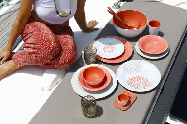 Mare Coral Set of 6 Dinner Plates