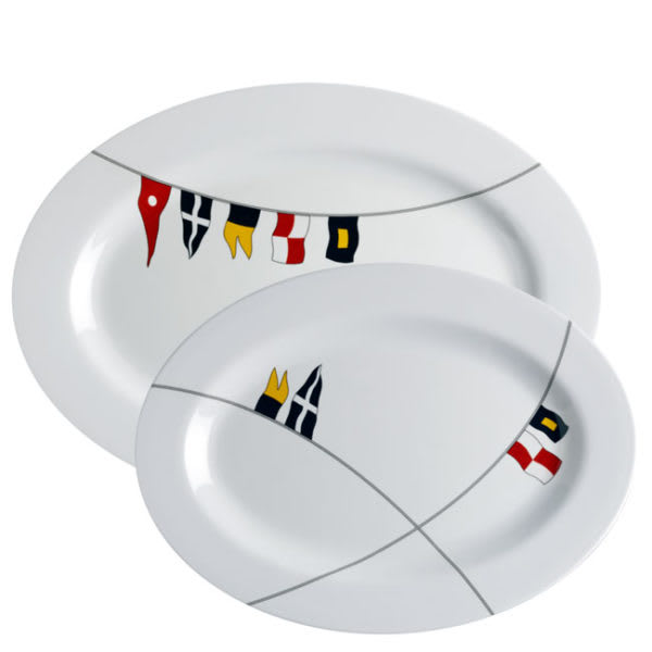 Regatta Oval Serving Platters Set of 2