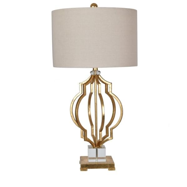 Sebastian Crystal Base Metal Gold Table Lamp
