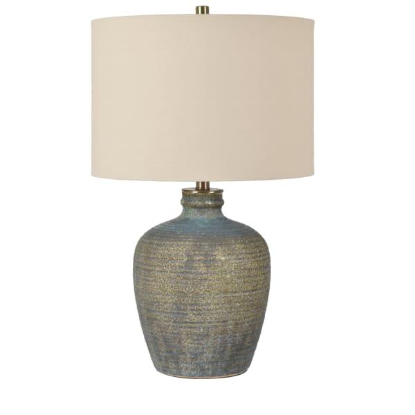 Lorelei Ceramic Blue Table Lamp