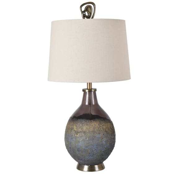 Avery Special Finial Molten Earth Texture Table Lamp