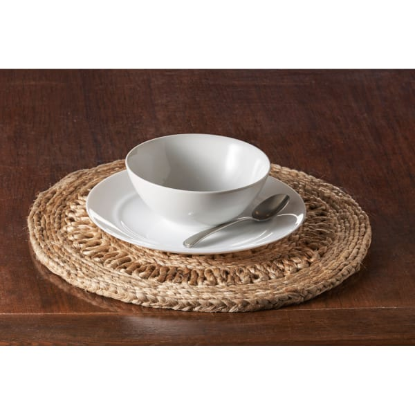 Detailed Braided Jute Set of 2 Placemat