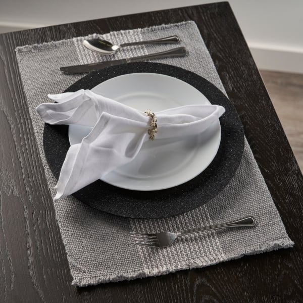 Bold Striped Gray Set of 4 Place Mat