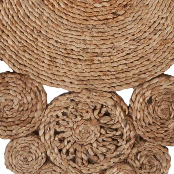 Connected Circles Jute Table Runner