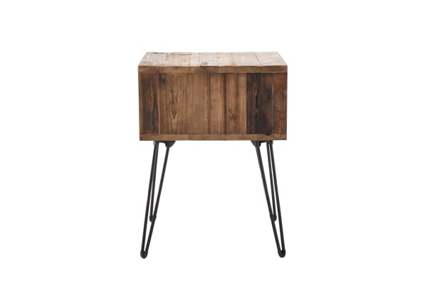 Turner Reclaimed Foldable Wood End Table