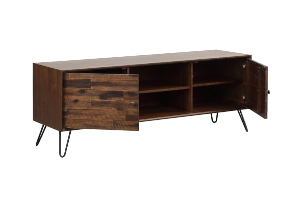 Greyson Dark Brown 2-Door 2-Shelf 56 inch Media Console