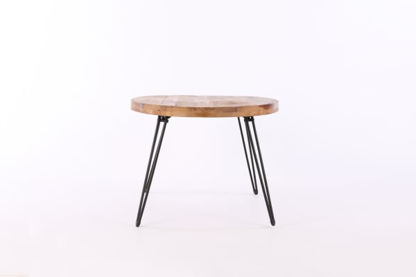 Tulse Reclaimed Wood and Metal Oval Cocktail Table