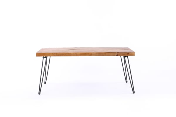Kennington Reclaimed Wood and Metal Cocktail Table