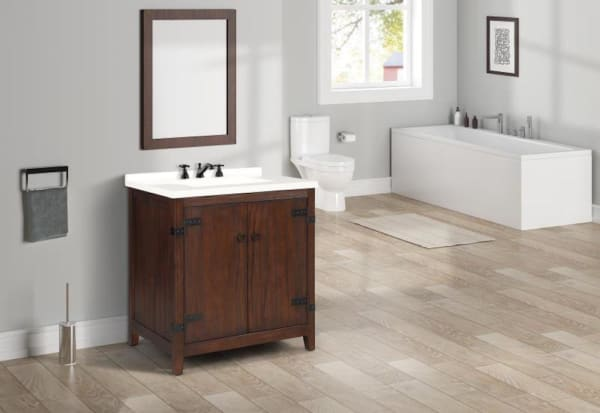Nathalie Cherry Brown Single Bathroom Vanity Pier 1