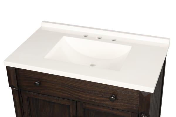 Montvale Dark Brown Single Bathroom Vanity Pier 1