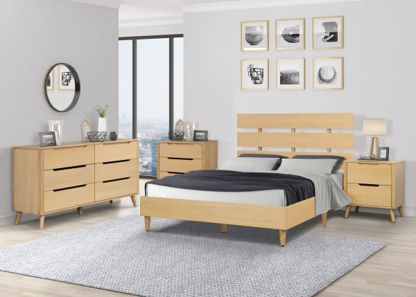 Arendal Blonde Finish Solid Wood 3-Drawer Chest