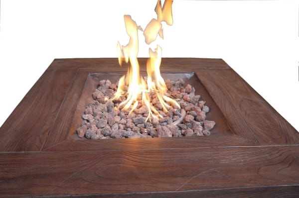 Vesuvius Brick Square Outdoor Gas Fire Pit