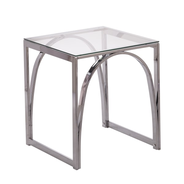 Hanna Glass-Top End Table
